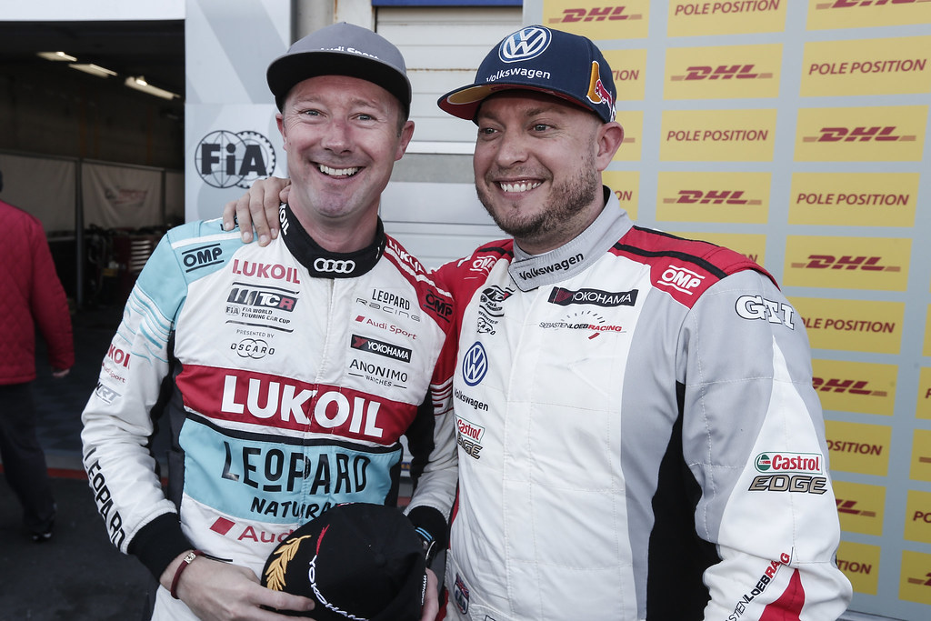 SHEDDEN Gordon, (gbr), Audi RS3 LMS TCR team Audi Sport Leopard Lukoil, portrait, HUFF Rob, (gbr), Volkswagen Golf GTI TCR team Sebastien Loeb Racing, portrait during the 2018 FIA WTCR World Touring Car cup of Zandvoort, Netherlands from May 19 to 21 - Photo Jean Michel Le Meur / DPPI