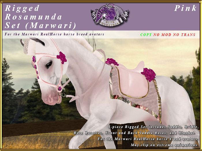 Rigged Rosamunda Tack Set for the RealHorse Marwari