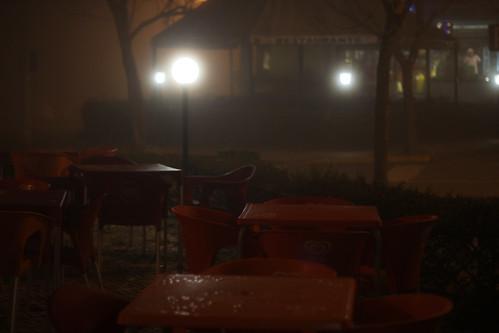 Nuit et brouillard à Tondela, Portugal