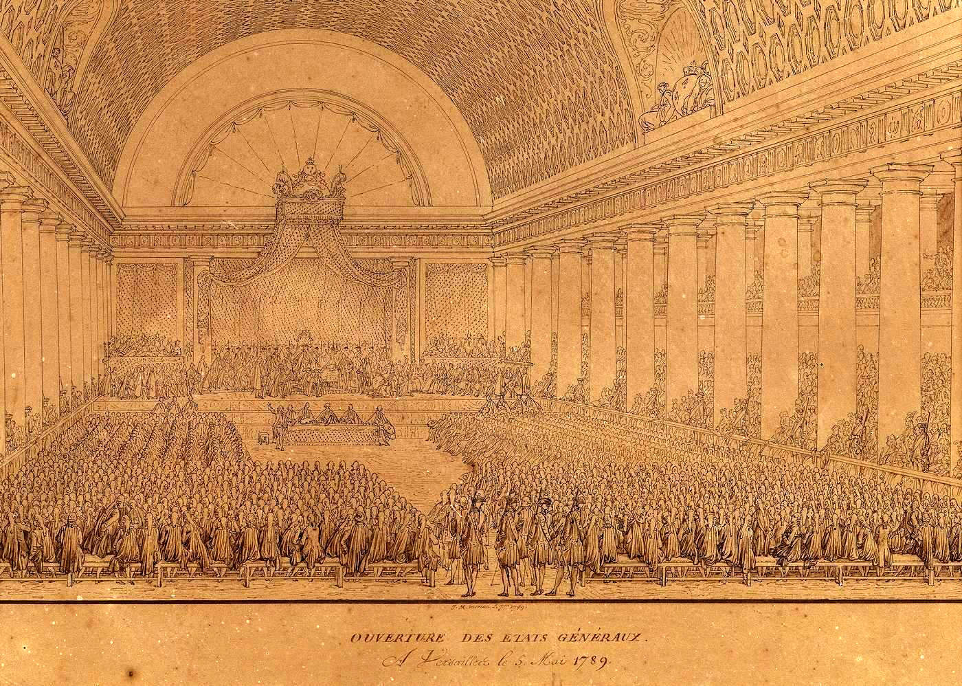 Charles Monet sketch of the opening of the Estates General on May 5, 1789.