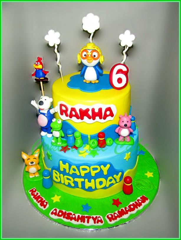 Cake Pororo RAKHA 15 dan 12 cm