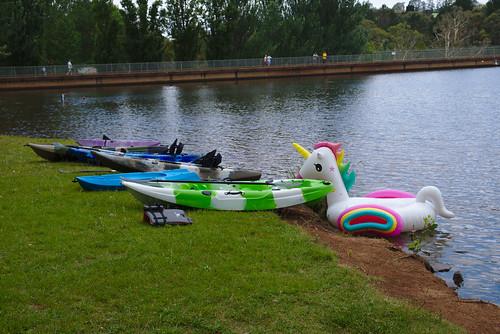 Unicorn kayak tow