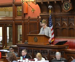 In honor of her time in the House of Representatives Rep. Ziobron was invited to serve as guest speaker for a bill on 5.8.18