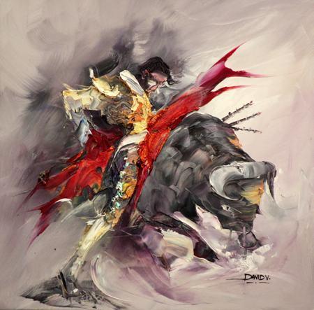 Frete-gr-tis-resumo-touradas-pintura-a-leo-c-pias-da-lona-cavalo-impresso-em-canvas