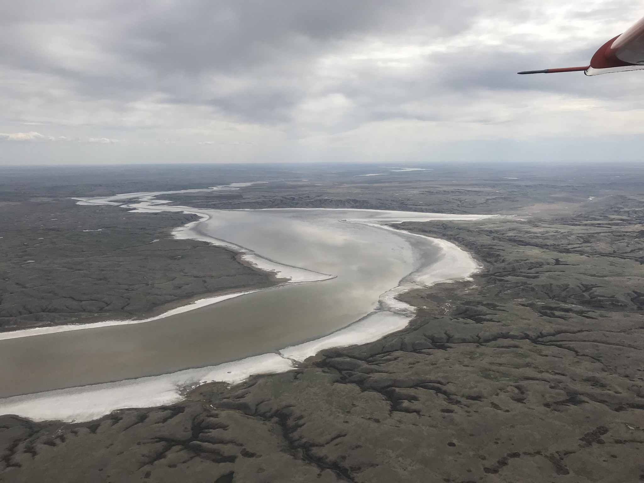The big muddy along the U.S. - Canadian border is drying up because of the lack of winter runoff and below-average precipitation. USFWS