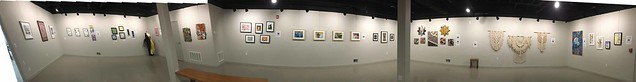 Six-wall panorama of the Instructors Show at The Artsmiths of Pittsburgh