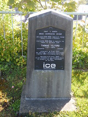 Photo of Menai Suspension Bridge and Thomas Telford black plaque