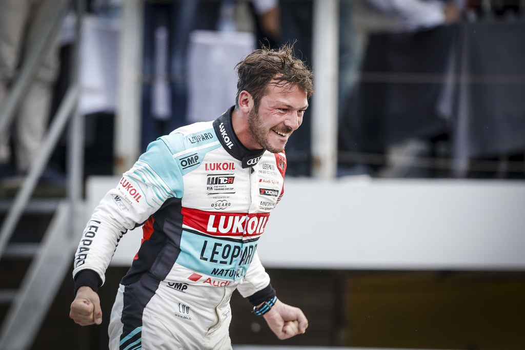 VERNAY Jean-Karl, (fra), Audi RS3 LMS TCR team Audi Sport Leopard Lukoil, portrait winner race 3 during the 2018 FIA WTCR World Touring Car cup of Zandvoort, Netherlands from May 19 to 21 - Photo Francois Flamand / DPPI