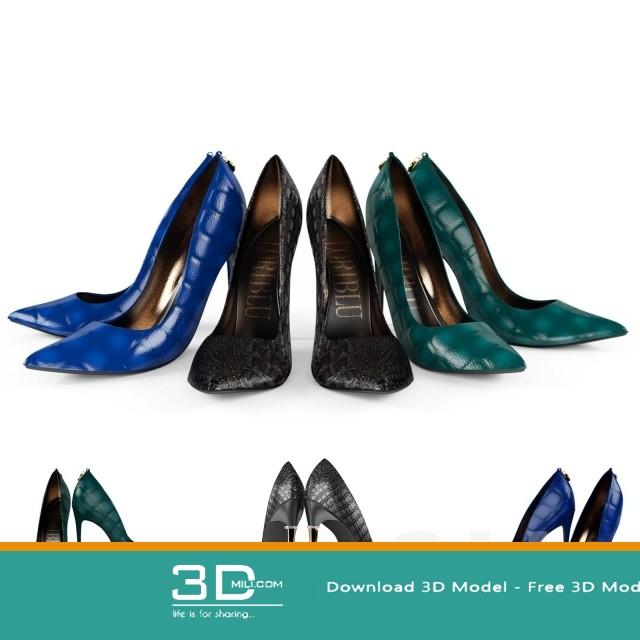 105  Shoes 3dmodel Free Download - 3D Mili - Download 3D