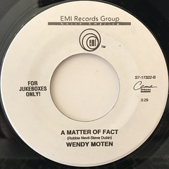 WENDY MOTEN:COME IN OUT OF THE RAIN(LABEL SIDE-B)