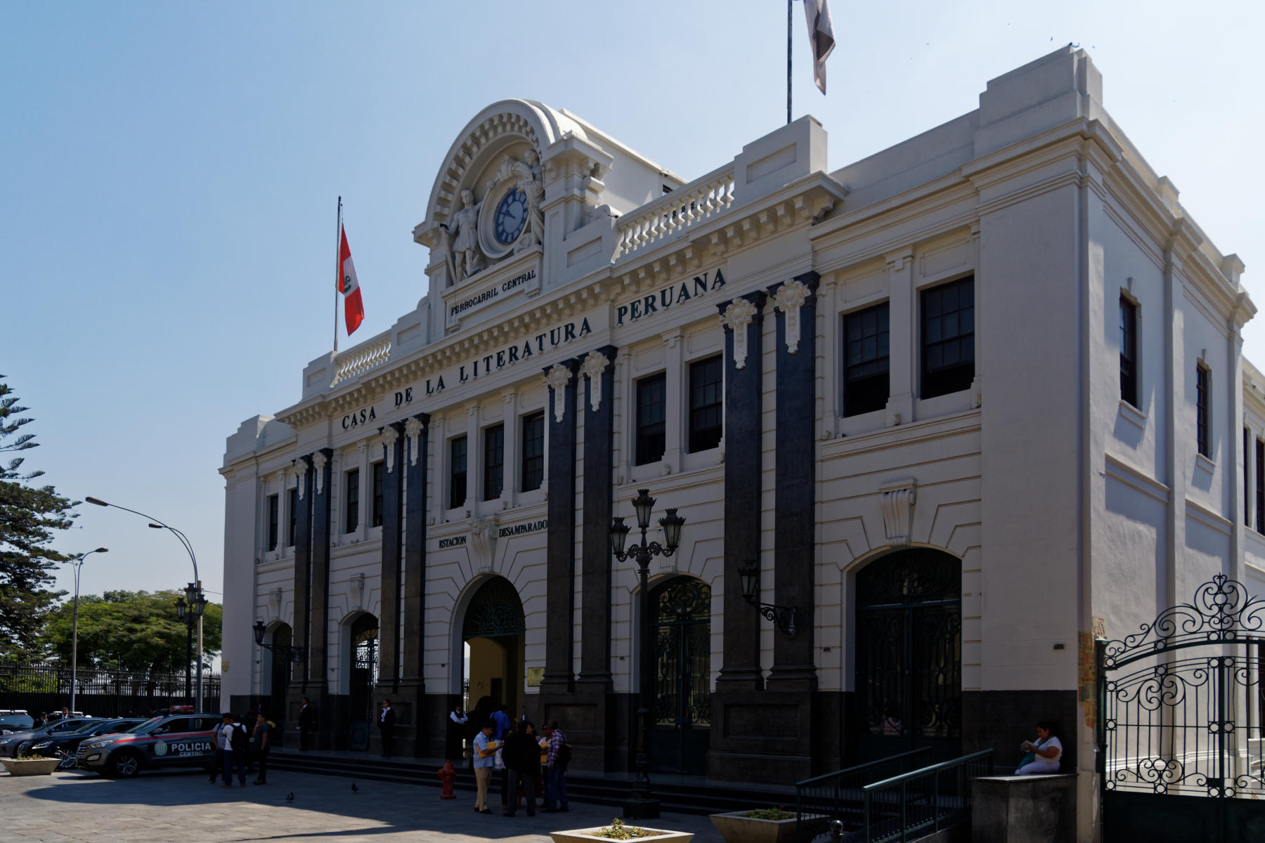 The old railway station in Lima