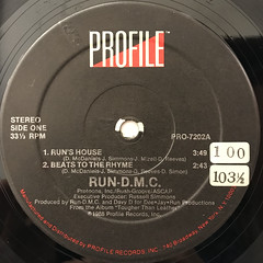 RUN-D.M.C.:RUN'S HOUSE(LABEL SIDE-A)