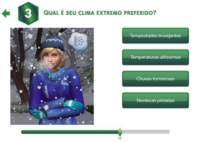 Quizz do The Sims 4 Estações