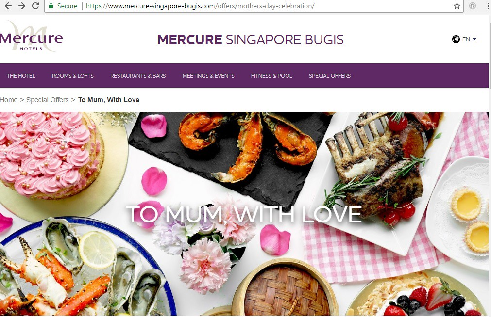 Mercure Singapore Bugis Mother's Day
