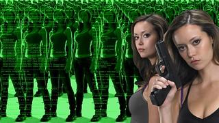 Summer Glau TSCC Cameron army duenity c++ code hologram