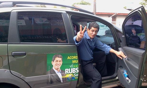 Retrovisor. Candidato a prefeito de Santarém do PSC, Retrovisor | Eleição de 2014. Candidato a prefeito Rubson Santana