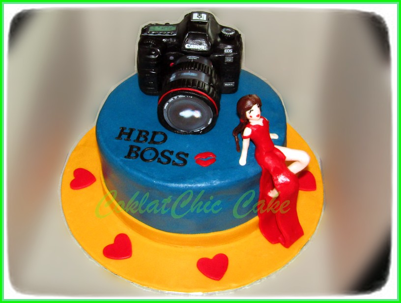 Cake Camera Canon & sexy girl BOSS 15 cm