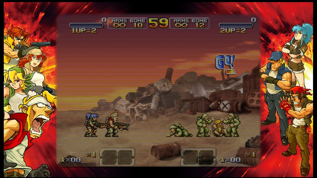 Metal Slug XX: TV Scanlines