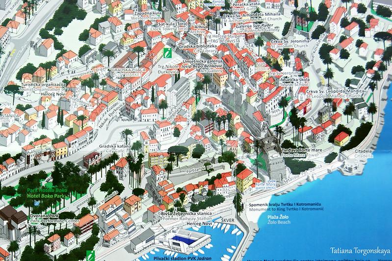 Центр Херцег Нови на панорамной карте