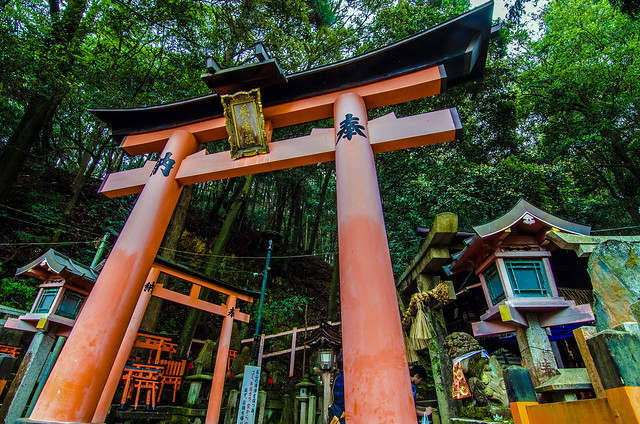 Fushimi Inari gate and stop