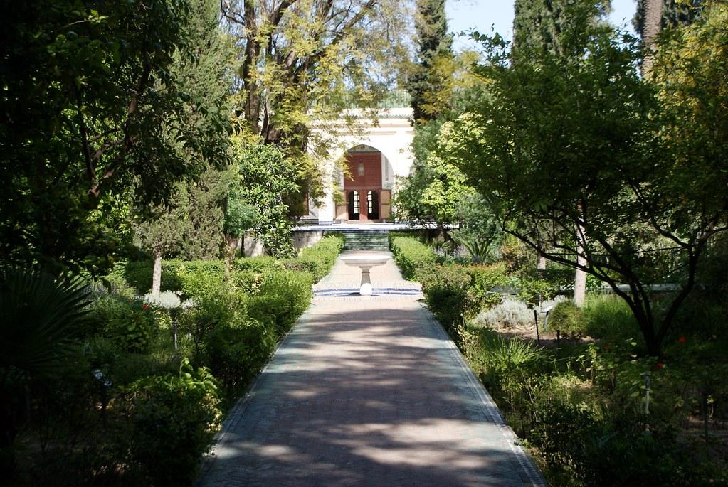 Jardin arabo-andalou du palais Batha à Fes.