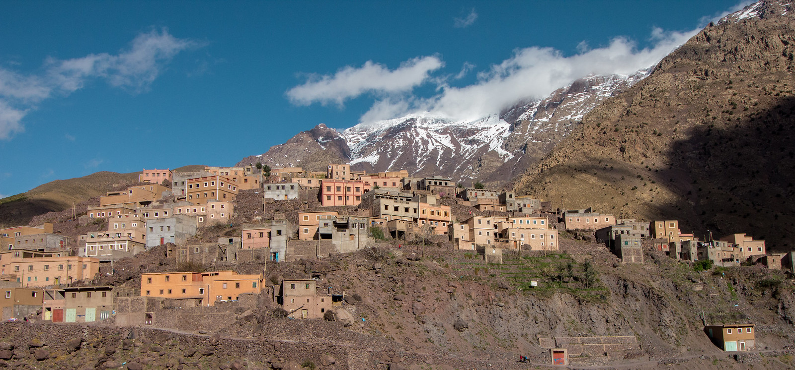 A village in the Imlil valley, Morocco
