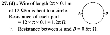 NEET AIPMT Physics Chapter Wise Solutions - Current Electricity explanation 27