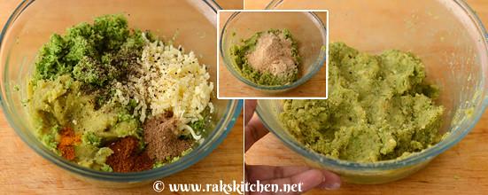 Broccoli sweet potato tikki step 5