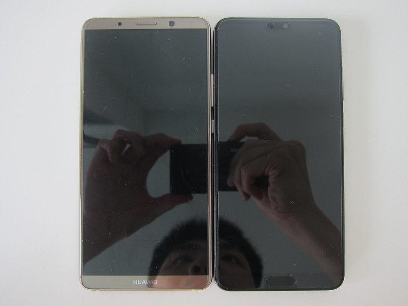 Huawei Mate 10 Pro vs Huawei P20 Pro - Front