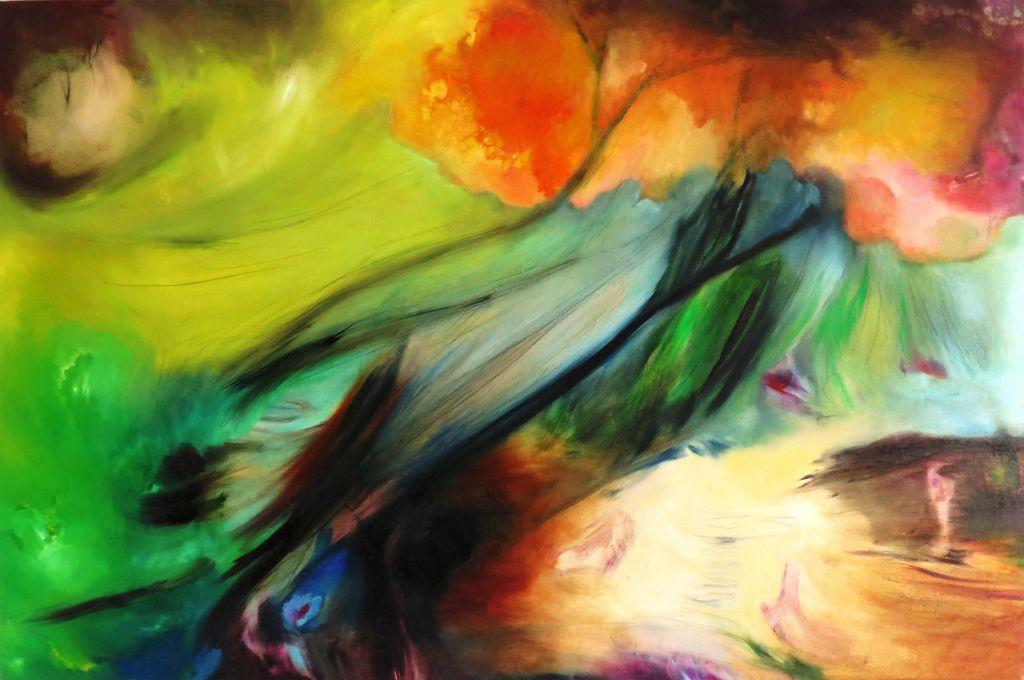 Un giorno - 90x140 cm. Oil on canvas 2016