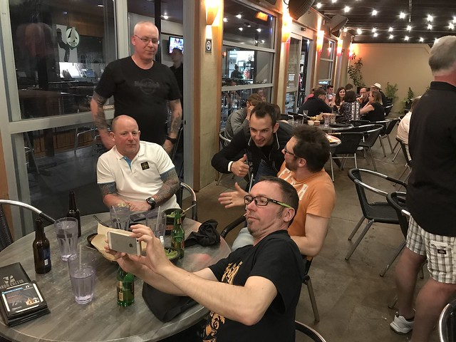 Closing dinner at the Iron Cactus