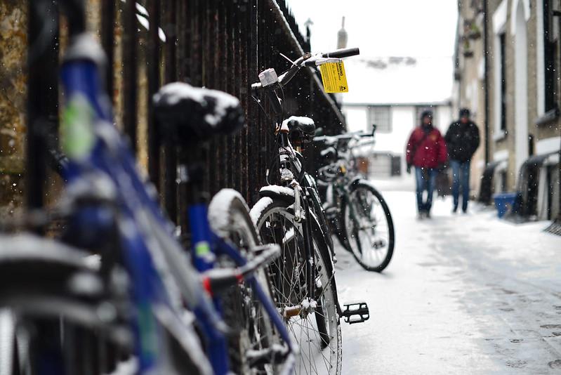 Nieve a la llegada