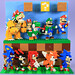 Mario and Sonic characters in LEGO by BRICK 101