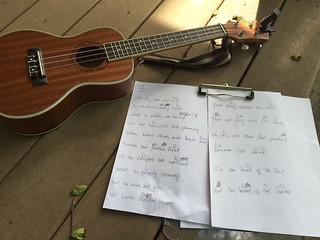Learning uke chords to accompany myself to sing Star Spangled Banner