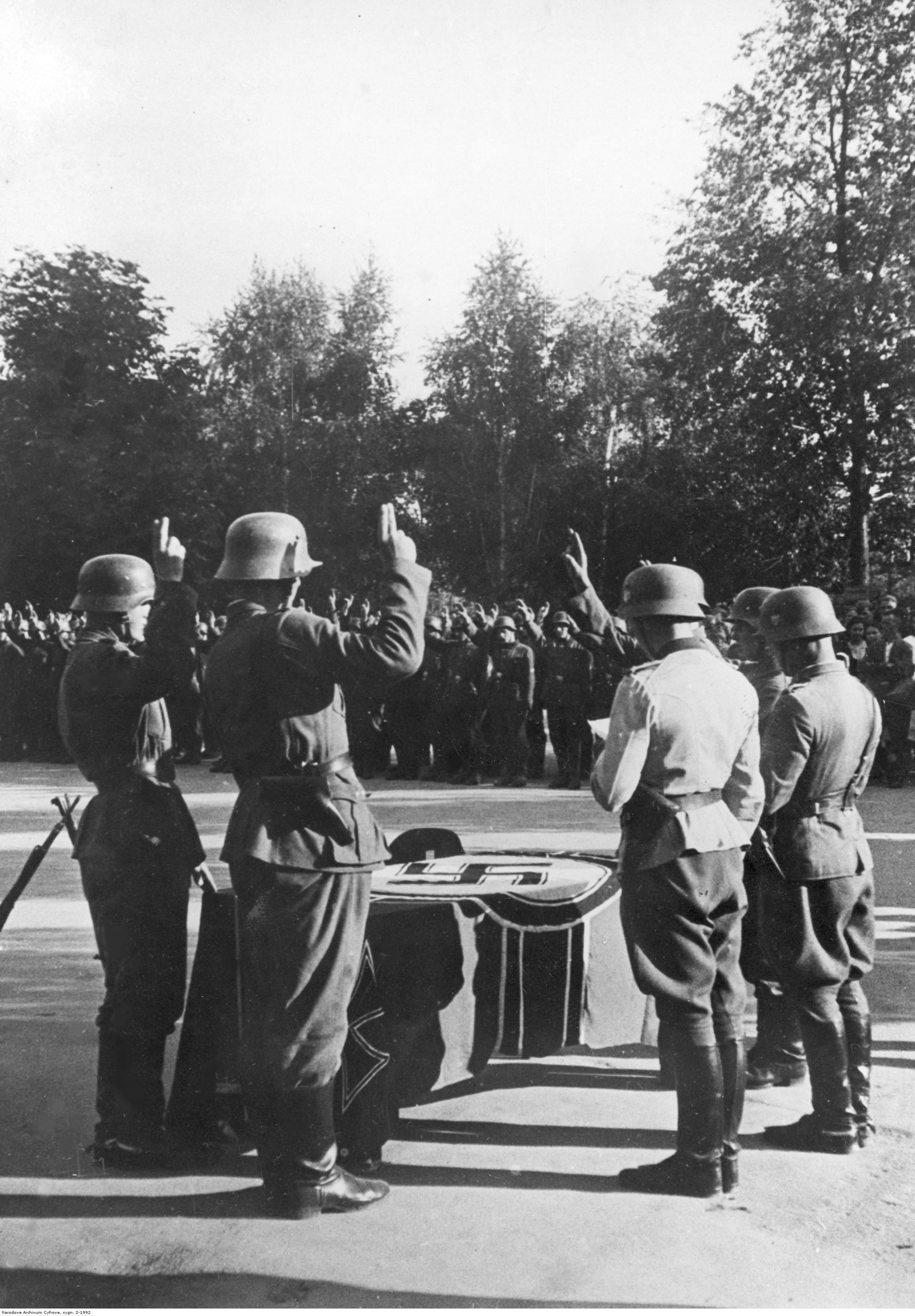 1942. Харьков. Присяга подразделения украинских добровольцев. Июль
