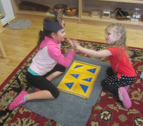 high five for matching triangles