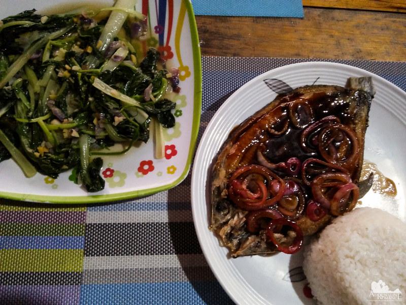 Fresh bangus and vegetables