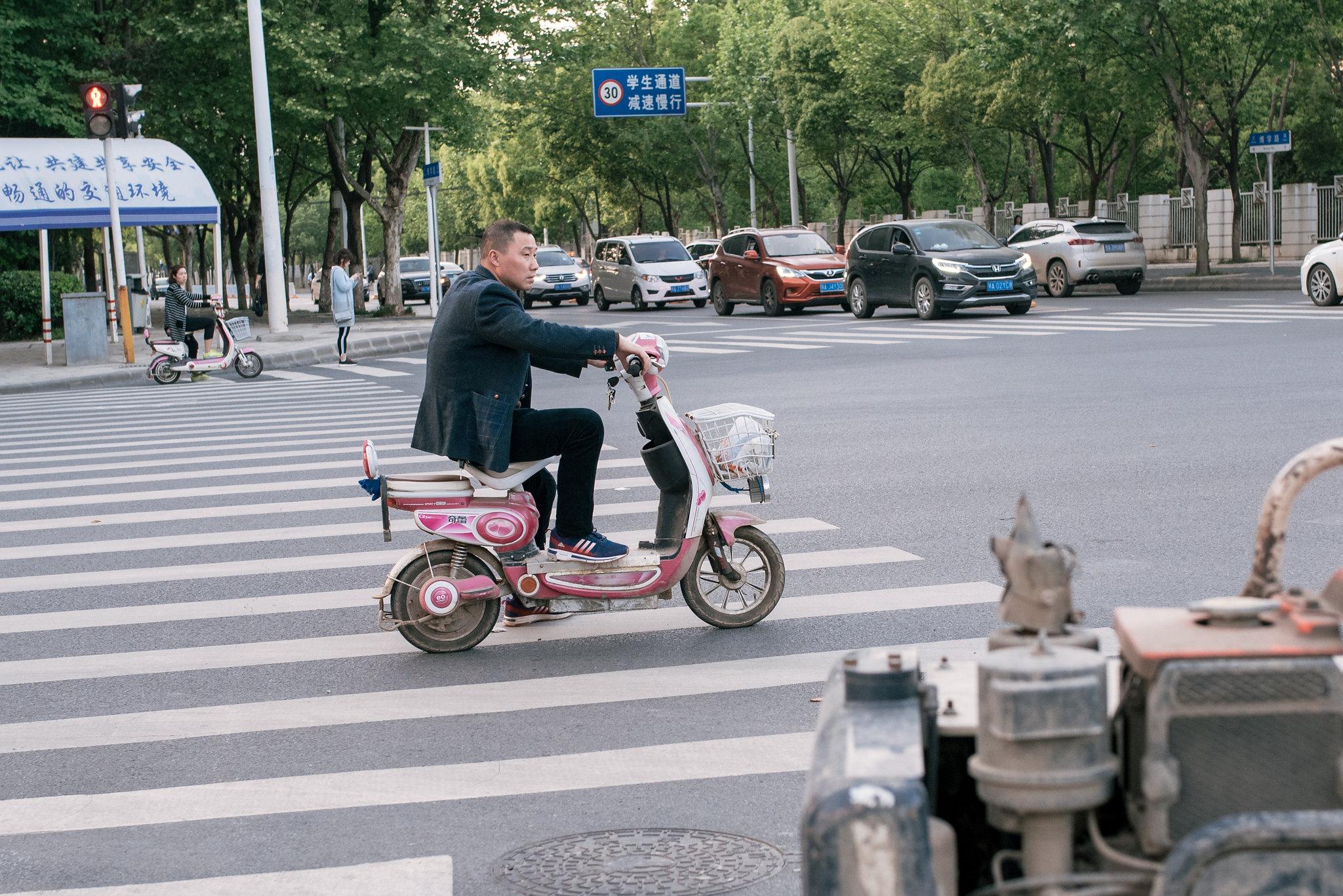 Pinky roller bike