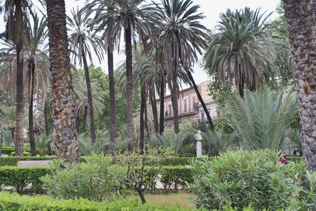 Parc de la Villa Bonanno à Palerme.