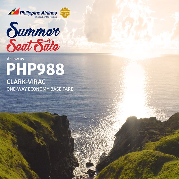 Philippine Airlines Summer Seat Sale Clark to Virac