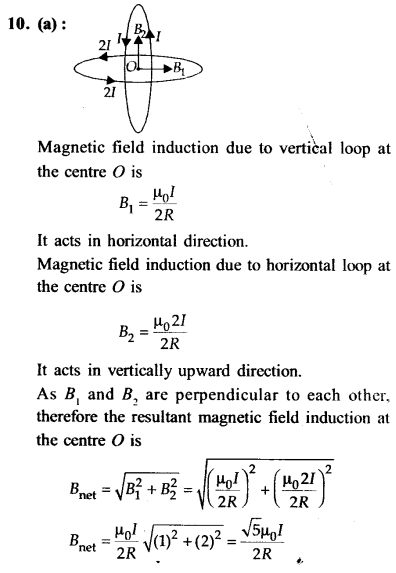 NEET AIPMT Physics Chapter Wise Solutions - Moving Charges and Magnetism explanation 10