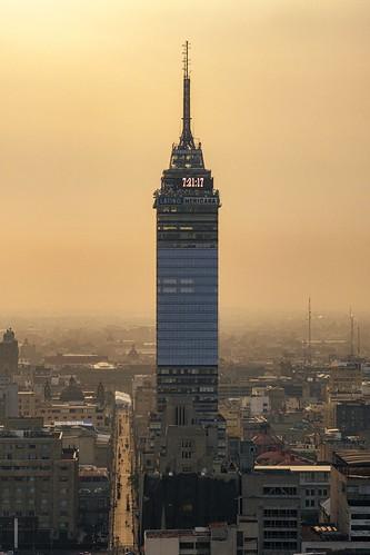 mexico mexicocity cdmx mexicocitydf torrelatinoaméricana architecture city cityscape morning sunrise building tower urbanskyline nopeople