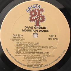 DAVE GRUSIN:MOUNTAIN DANCE(LABEL SIDE-A)