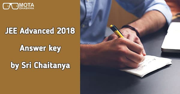 jee advanced 2018 answer key by sri chaitanya download