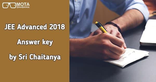 jee advanced 2018 answer key by sri chaitanya download