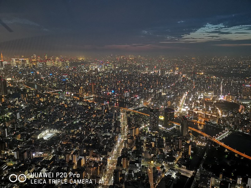 Huawei P20 Pro - View From Tokyo Skytree