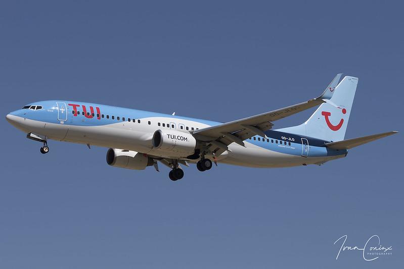 Boeing 737-8K5 – TUI Fly Belgium – OO-JLO – Brussels Airport (BRU EBBR) – 2018 05 07 – Landing RWY 25L – 01 – Copyright © 2018 Ivan Coninx