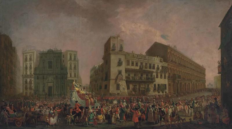 Pietro Fabris - The Carnival in Naples in 1778, with the 'Cavalcata turca' parading through the Largo di Palazzo