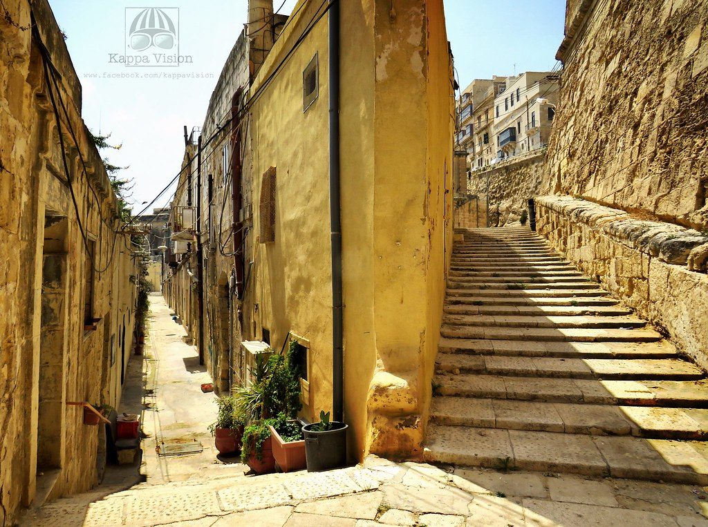 The Nix Mangiare steps, Valletta, Malta