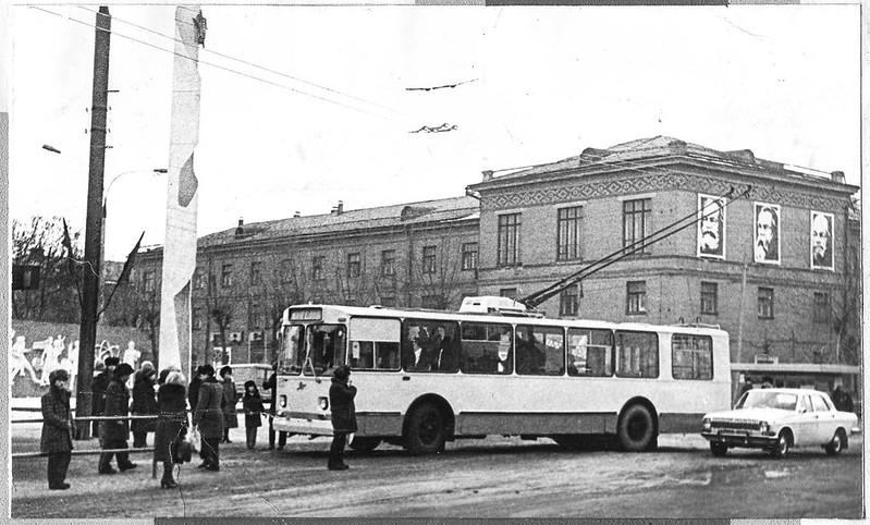 1982 год. Первый пробный троллейбус в посёлке КПЗиС